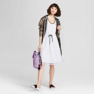 HUNTER White Sporty A-Line Mesh Dress sz S NEW